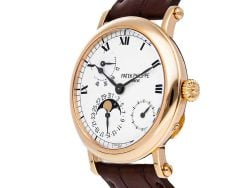 Patek Philippe White 18K Rose Gold Complications Power Reserve Moon Phase 5054R-001 Men's Wristwatch 36 MM