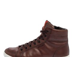 Prada Sport Brown Leather High Top Sneakers Size 42
