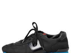 Prada Sport Black Nylon And Leather Low Top Sneakers Size 42