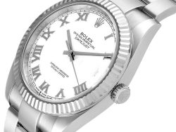 Rolex White 18K White Gold And Stainless Steel Datejust 126334 Men's Wristwatch 41 MM