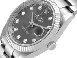 Rolex Datejust Diamonds 18K White Gold And Stainless Steel 126334 Men's Wristwatch 41 MM