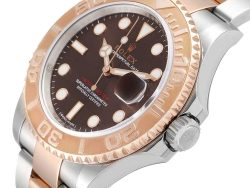 Rolex Brown 18K Rose Gold And Stainless Steel Yachtmaster 116621 Men's Wristwatch 40 MM