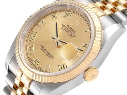 Rolex Champagne 18K Yellow Gold And Stainless Steel Datejust 116233 Men's Wristwatch 36 MM
