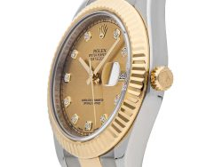 Rolex Champagne Diamonds 18K Yellow Gold And Stainless Steel Datejust II 116333 Men's Wristwatch 41 MM