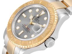 Rolex Slate 18K Yellow Gold And Stainless Steel Yachtmaster 16623 Men's Wristwatch 40 MM