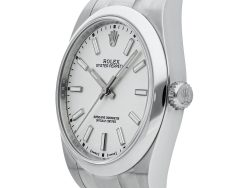 Rolex White Stainless Steel Oyster Perpetual 114300 Men's Wristwatch 39 MM