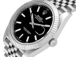 Rolex Black 18K White Gold And Stainless Steel Datejust II 126334 Men's Wristwatch 41 MM