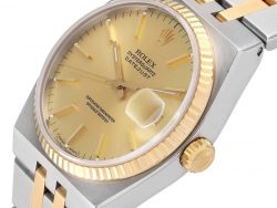 Rolex Champagne 18K Yellow Gold And Stainless Steel Oysterquartz Datejust 17013 Men's Wristwatch 36 MM