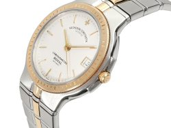 Vacheron Constantin White 18K Yellow Gold And Stainless Steel Phidias 47020/567M-7 Men's Wristwatch 33 MM