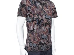 Valentino Multicolor Japanese Butterfly Printed Cotton Crewneck Oversized T-Shirt M