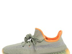 Yeezy x adidas Grey Knit Fabric Boost 350 V2 Desert Sage Sneakers Size 42 2/3