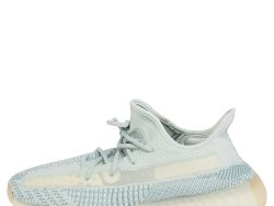 Yeezy x Adidas White/Blue Knit Fabric Boost 350 V2 Cloud White Sneakers Size 43 2/3
