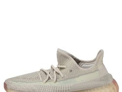 Yeezy x adidas Cream/Grey Knit Fabric Boost 350 V2 Citrin Sneakers Size 42 2/3