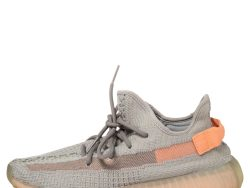 Yeezy x Adidas Grey Cotton Knit Boost 350 V2 True Form Sneakers Size 42