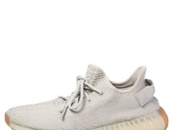 Yeezy x Adidas Grey Cotton Knit Boost 350 V2 Sesame Sneakers Size 42 2/3
