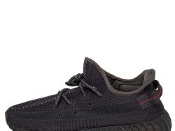 Yeezy x adidas Black Knit Fabric Boost 350 V2 Static Low Top Sneakers Size 44