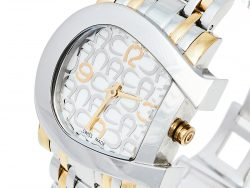 Aigner Mother of Pearl Two-Tone Stainless Steel Genua Due A31600 Women's Wristwatch 34 mm