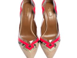 Patent Leather and Python Trim Frankie Pumps Size 41