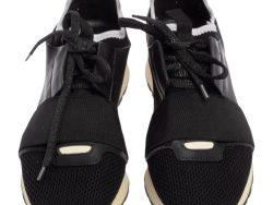 Leather and Mesh Race Runner Sneakers Size 37