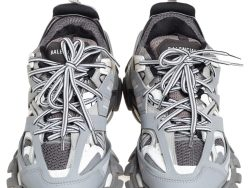 Mesh And Track  Lace Up  Sneakers Size 39