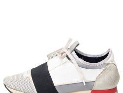 Balenciaga Multicolor Leather And Suede Race Runner Sneakers Size 38