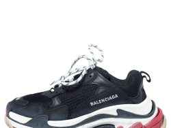 Balenciaga Multicolor Mesh and Leather Triple S Clear Sole Sneakers Size 39