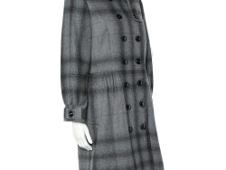 Burberry Grey Wool & Cashmere Double Breasted Button Front Coat M