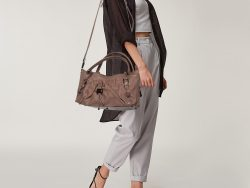 Burberry Beige Leather Drawstring Tote