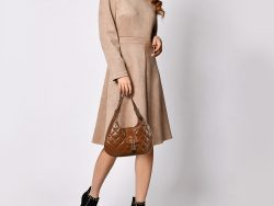 Burberry Brown Quilted Leather Brooke Hobo