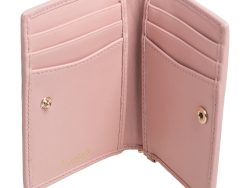 Bvlgari Light Pink Quilted Leather Serpenti Bifold Card Holder