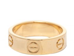 Cartier Love 18K Yellow Gold Band Ring Size 52