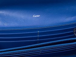 Cartier Blue Leather Happy Birthday Continental Wallet