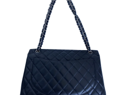Chanel Black Quilted Lambskin Leather Classic CC Flap Bag