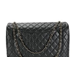 Chanel Black Quilted Leather Jumbo Single Flap Bag