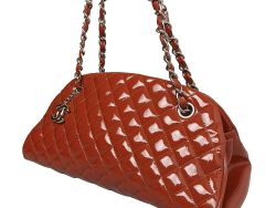 Chanel Red Patent Leather Just Mademoiselle Bowling Bag