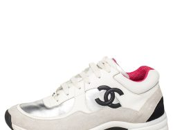 Chanel Multicolor Suede And Leather CC Low Top Sneakers Size 39