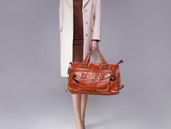 Chloe Brown Leather Tracy Satchel