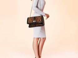 Christian Louboutin Black/Brown Leopard Print Calfhair and Leather Sweet Charity Shoulder Bag