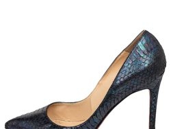 Christian Louboutin Multicolor Python Leather Pigalle Follie Pointed Toe Pumps Size 39.5