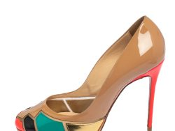 Christian Louboutin Multicolor Patchwork Patent Leather Astrogirl Pumps Size 38