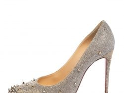 Christian Louboutin Gold/Silver Lurex Fabric Degraspike Pointed Toe Pumps Size 38