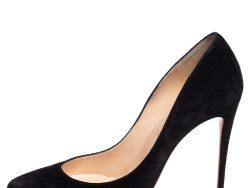 Christian Louboutin Black Suede So Kate Pointed Toe Pumps Size 38
