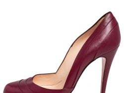 Christian Louboutin Burgundy Leather Insectika Pumps Size 38