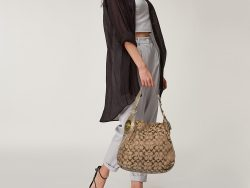 Coach Brown/Beige Signature Canvas and Leather Hobo