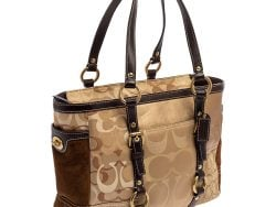 Suede and Leather Patchwork Tote