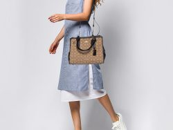 Coach Brown/Beige Signature Canvas and Leather Crosby Carryall Satchel