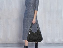 Coach Black Op Art Signature Canvas and Leather Madison Abigail Tote