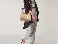 Coach Beige/White Signature Canvas and Leather Legacy Courtenay Hobo