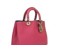 Dior Pink Leather Large Diorissimo Tote Bag