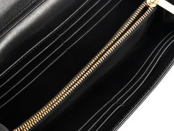 Dior Black Leather Turn Me Dior Continental Wallet
